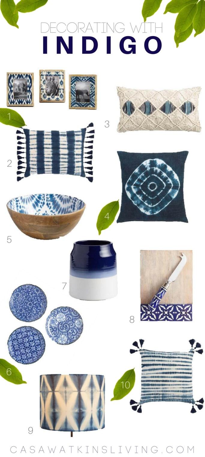 decorating with indigo! home decor for winter