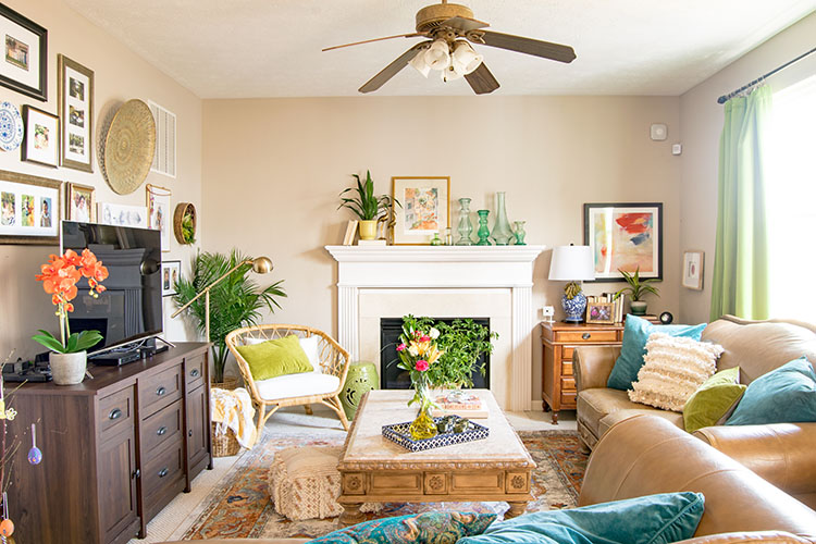 Modern Global Spring Decorating Ideas - Casa Watkins Living