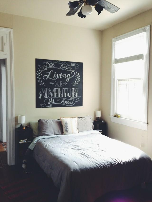 Pintura pizarra para decorar tu pared de forma fcil y