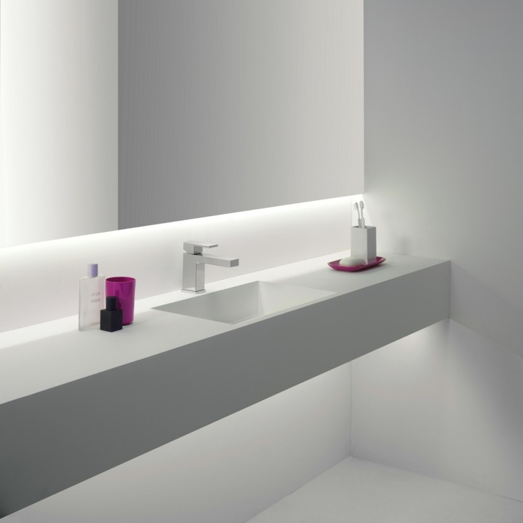 baño decoracion led lavabo moderno