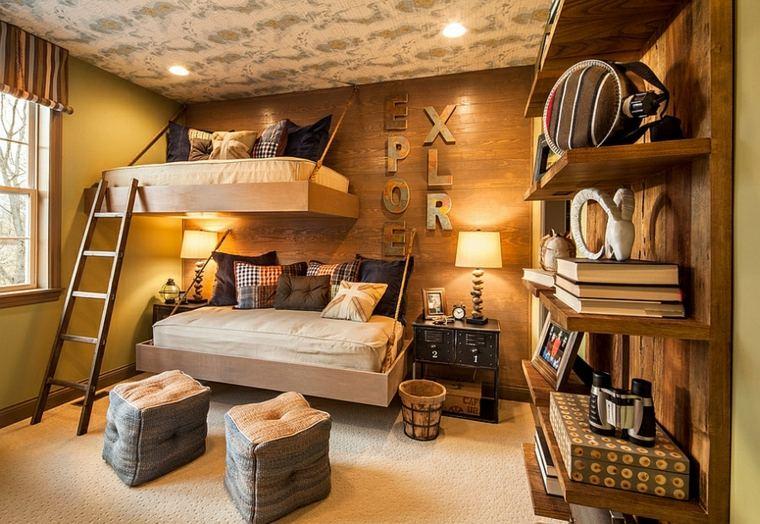 Decoracion rstica para los dormitorios juveniles con encanto