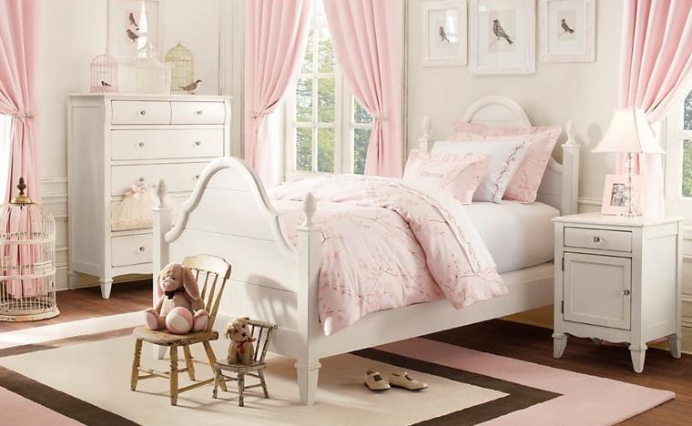 Dormitorios infantiles para nias  tradicionales y