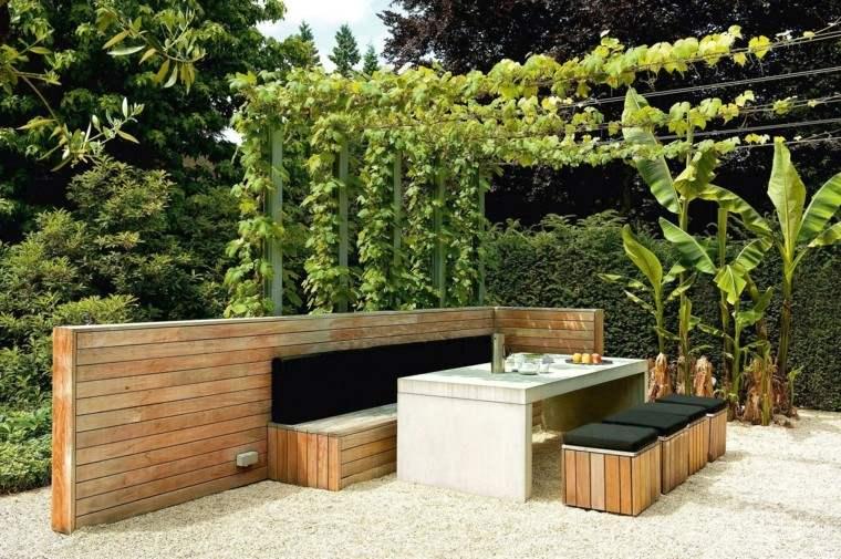 Diseo de jardines modernos con mucha naturalidad