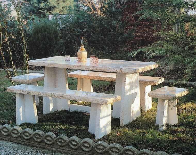 Mesas para el jardn esticas practicas modernas