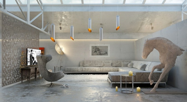 moderno salon led diseño metales