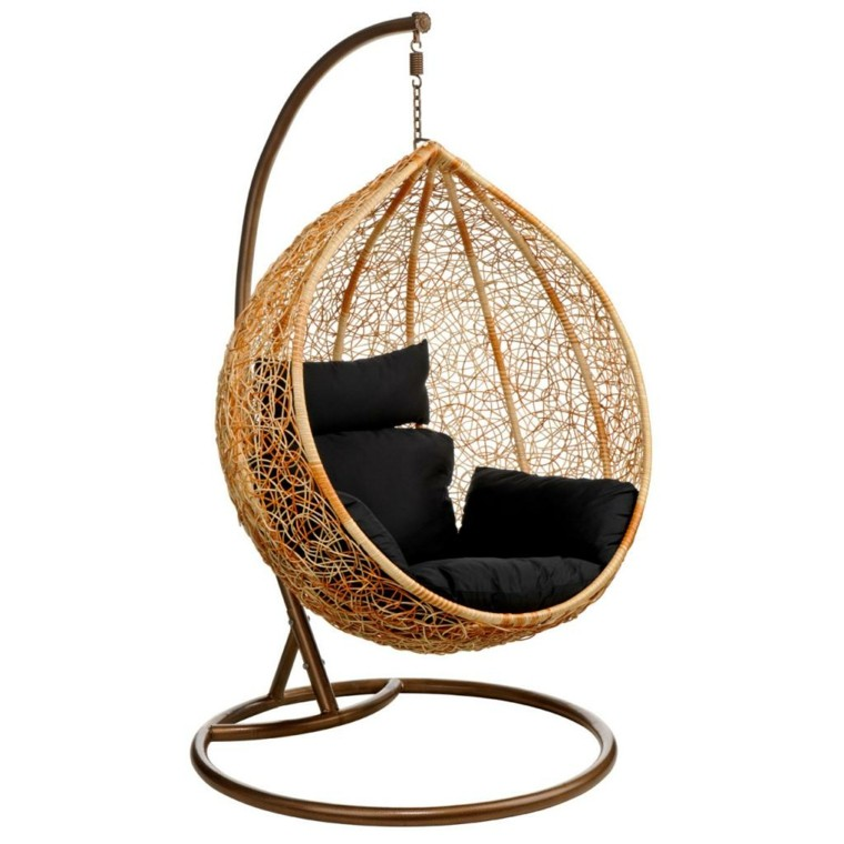 wicker hammock chair oversized reclining sillones colgantes de jardín, terraza o patio