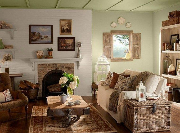 Muebles rsticos para el saln moderno