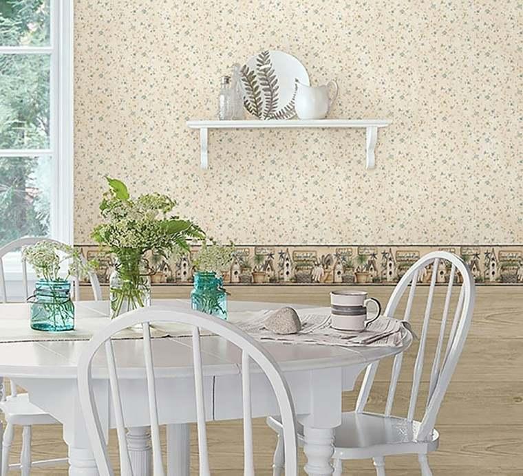 Papeles pintados para las paredes de la cocina