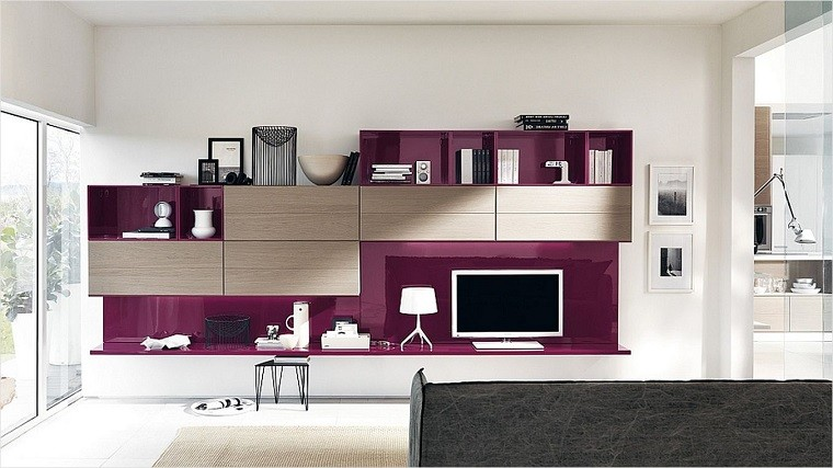 Muebles tv y bibliotecas para el saln o sala de estar