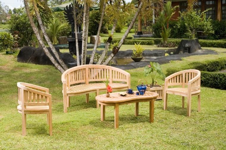 madera de teca para los muebles de jardin