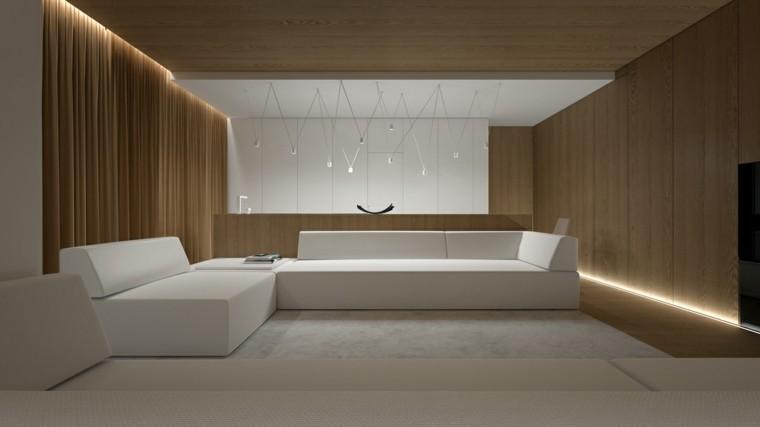 sofa led muebles lamparas blanco