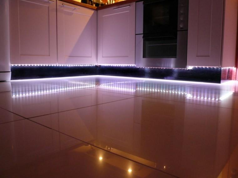 suelo muebles base led cocina