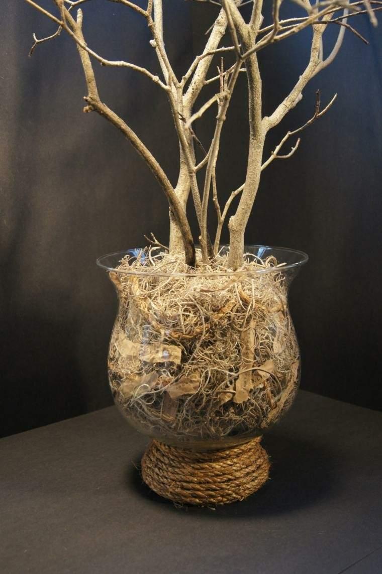 Cuerdas de camo para decorar cuencos y jarrones
