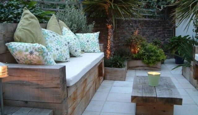banco muebles madera maciza sin tratar