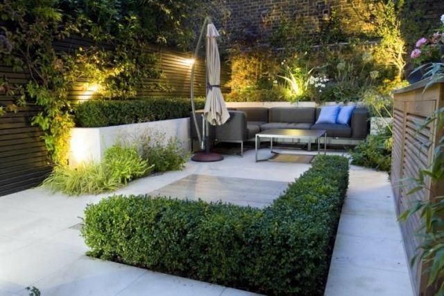 diseño de jardines pequeños muebles