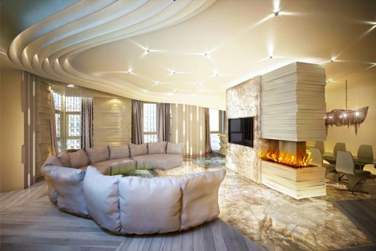 Interiores modernos  65 ideas para la decoracin