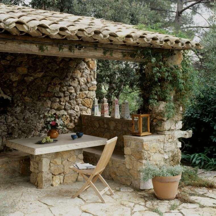 Decoracion Jardines Rusticos Diseo Jardin Estilo Rustico