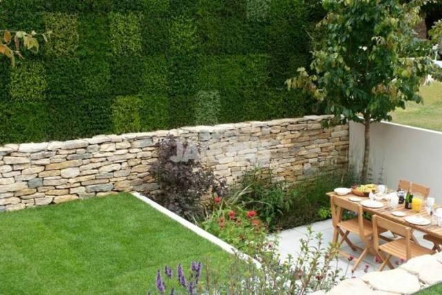 jardin pequeño terraza nivelada