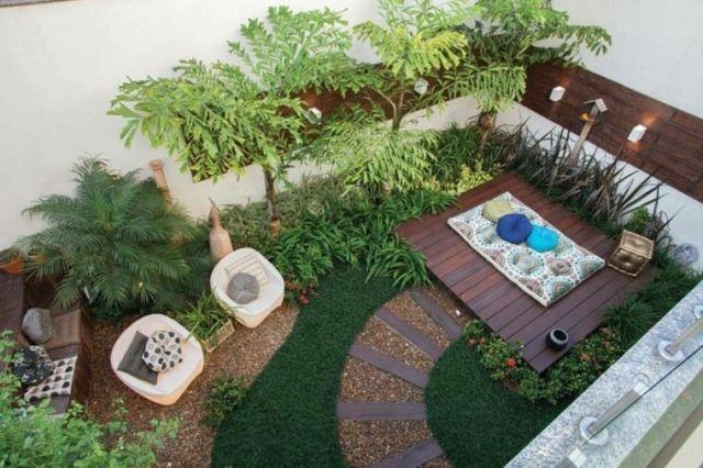 jardin pequeño visto arriba