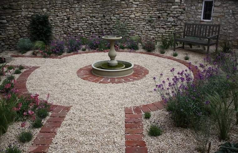 Arena y gravilla para el diseo de jardines modernos