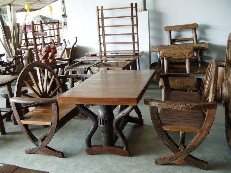 Muebles rusticos aires campestres para todo espacio