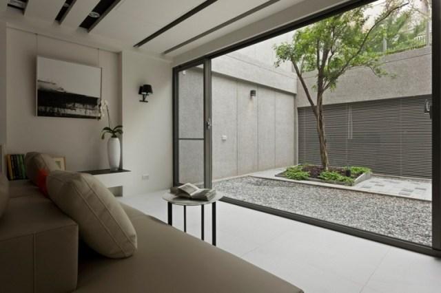 patio interior estilo moderno zen