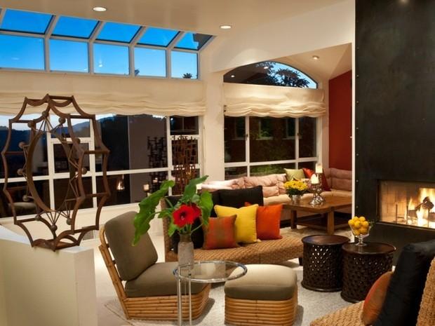 Colores vivos para la decoracin de salas de estar