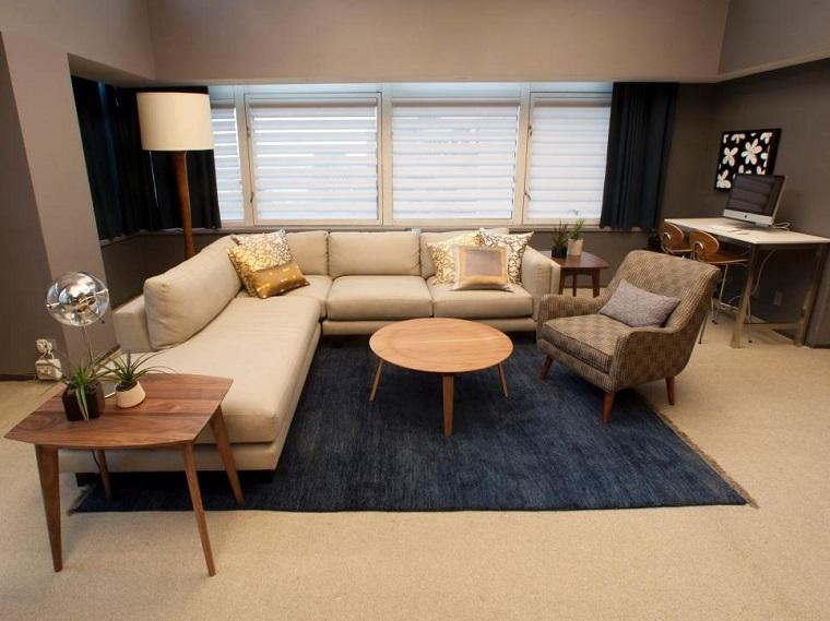 Decoracin de salones modernos con lneas simples
