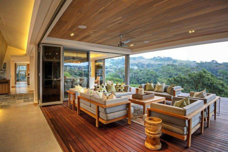 Techos de madera  cincuenta ideas modernas