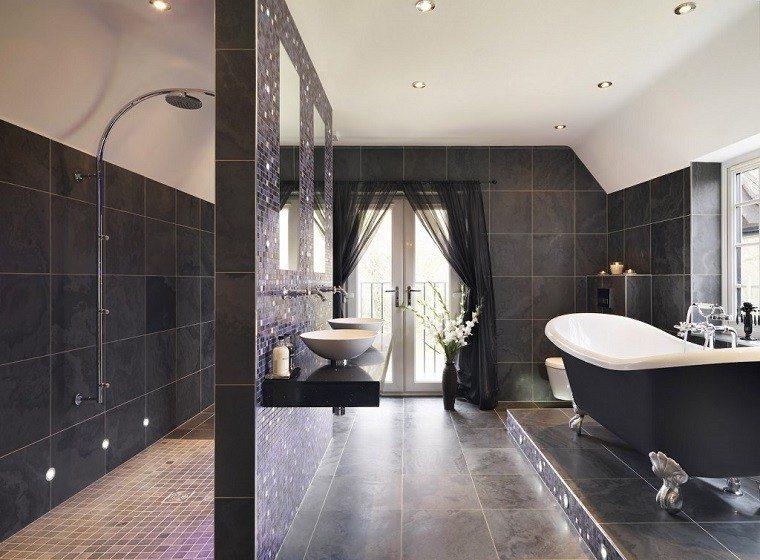 baño estilo lujoso ducha bañera
