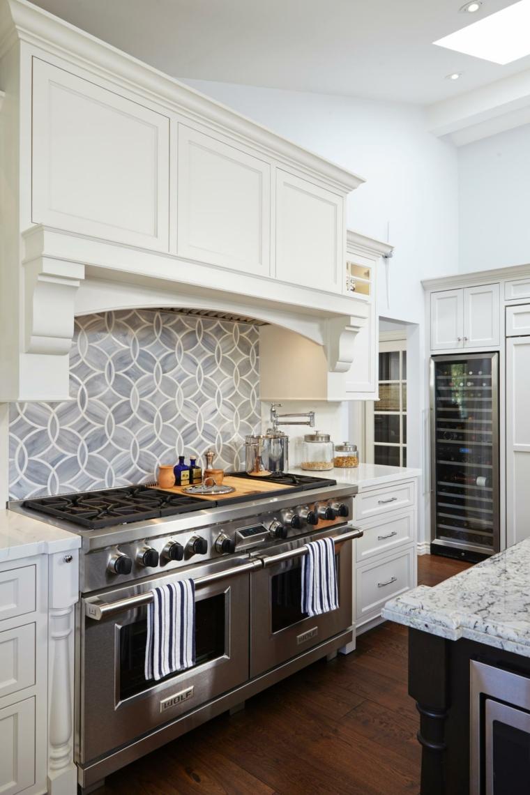 Azulejos cocina y salpicaderos geomtricos retadores