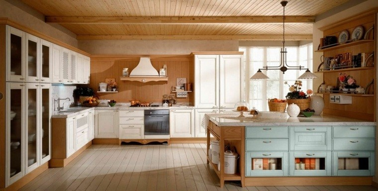 Cocinas estilo campestre  ms de 50 ideas motivantes a