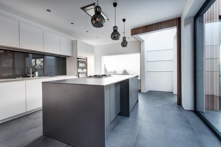 Color gris para ideas en la decoracin de cocinas modernas