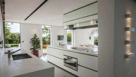 villa cuisine cocina moderne moderna modernas interiores casas france diseno blanca contemporaine horizon arbonne decorar patio piscine avec actuales tendance