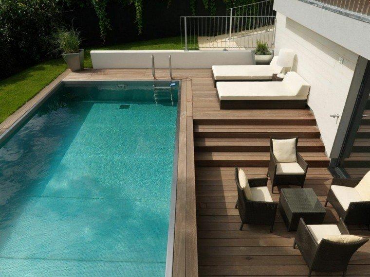 Modelos de diseos paisajistas con piscina  75 ideas