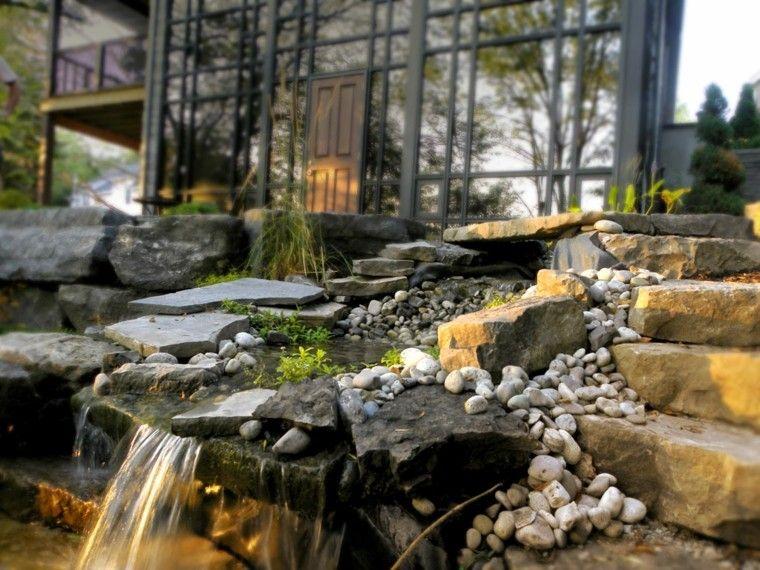 Cataratas y cascadas en el jardn  75 ideas