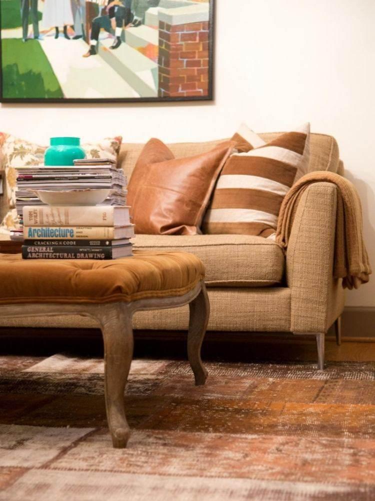Muebles de saln colores de moda para el interior