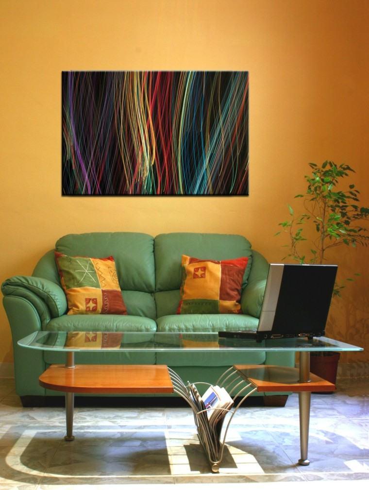 Pinturas para saln  ideas de combinaciones modernas