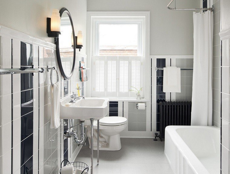 diseño baño retro pequeño