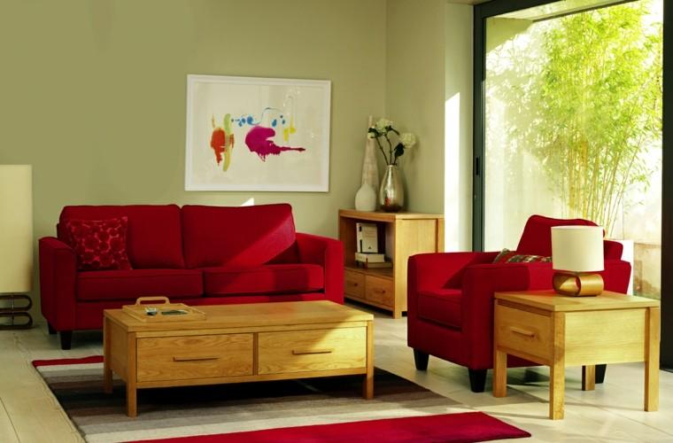 modern retro sofa and loveseat ottomans pinturas para salón - ideas de combinaciones modernas