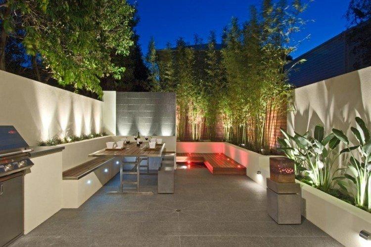 Caas de bamb para decorar patios y terrazas