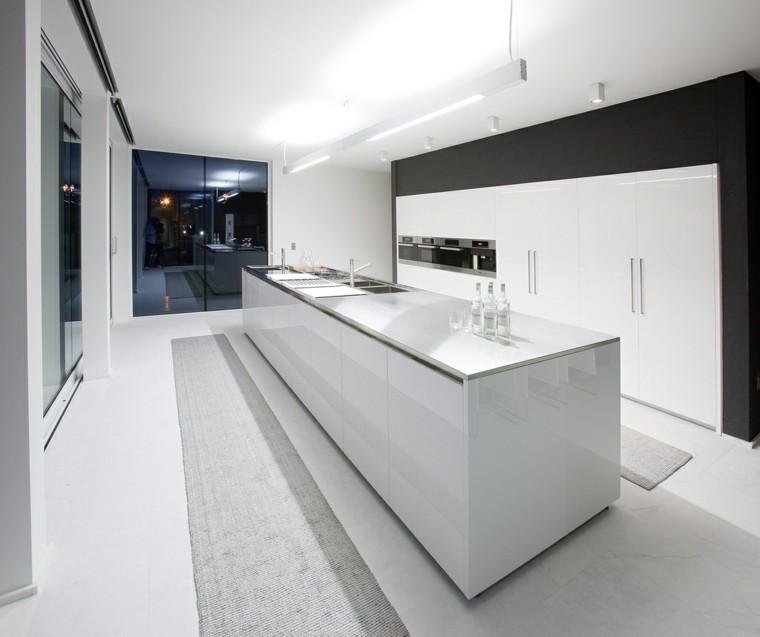 Cocinas blancas de diseo moderno  50 ejemplos