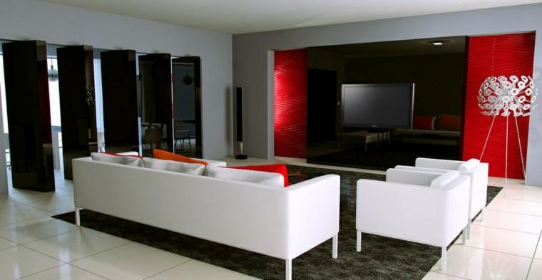 Decoracin de salones pintura y papel de pared modernos