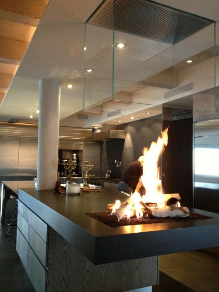 Diseo chimeneas modernas y 50 ideas para entrar en calor