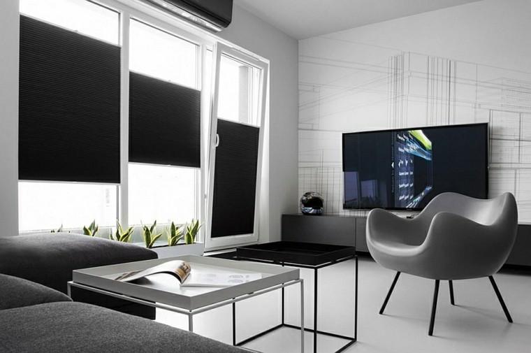 diseño interiores minimalistas television revista plantas