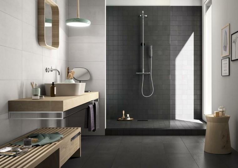 Diseo de baos en color gris 50 ideas inspiradoras