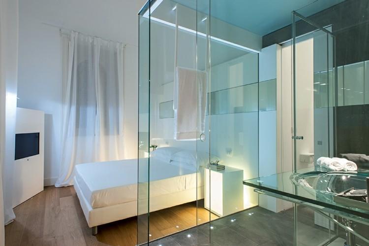 Cuartos de bao acristalados en el dormitorio  25 ideas