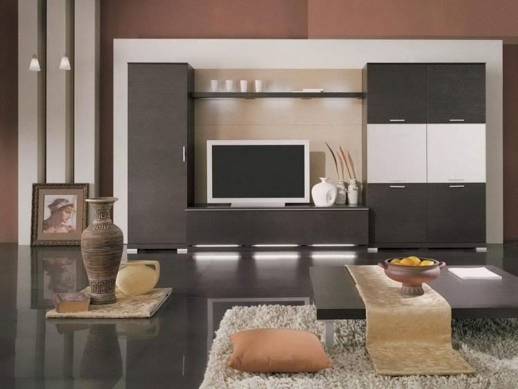 Mueble con LED integrado unidades de pared asombrosas