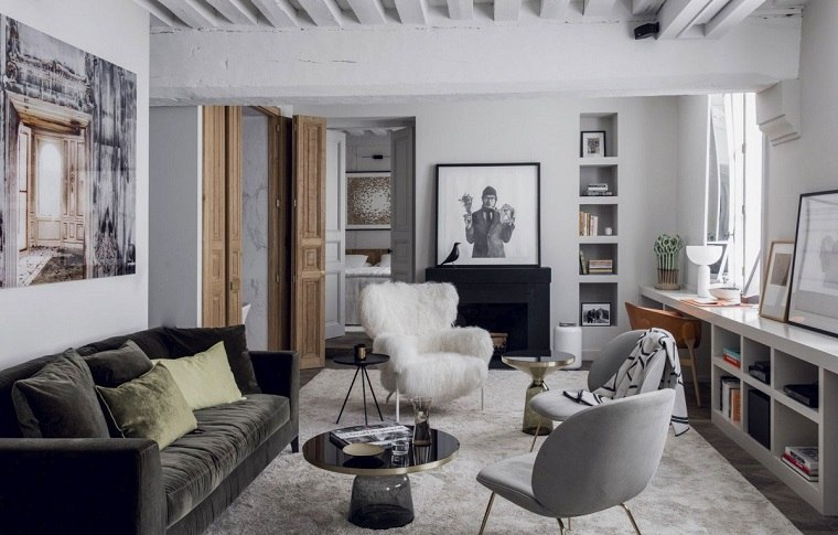 Ideas para decorar una pared de saln que impresionan