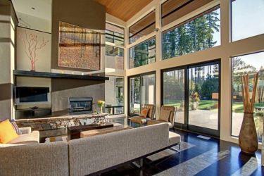 interior casas modernas interiores casa ruang tamu forest jendela modern soffitti alti unik desain mcclellan ide gambar architects arredare living